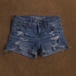 Ripped jean shorts from American Eagle outfitters